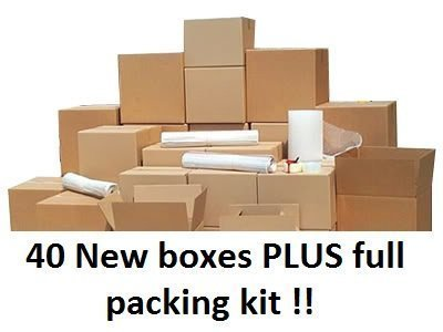 -[ 40 Box house moving pack for removals and storage, all you need for your move !  ]-