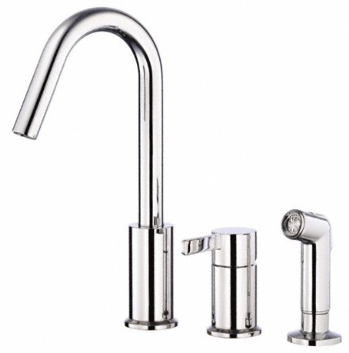 Danze D409030 Amalfi Single Handle Kitchen Faucet with Side Spray, Chrome (Handle Universal Single)