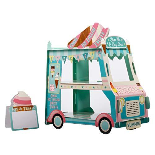 3 Tier Bus Cupcake Stand Ice Cream Holder