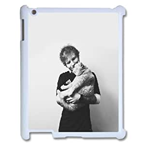 3D Ed Sheeran with a Cat in Her Arms IPad 2,3,4 2D Case for Women Protective, Ipad Case Kids [White]