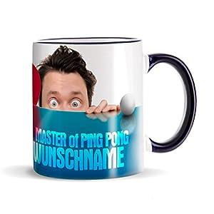 Privat Tasse Kaffeebecher für Tischtennis Spieler - Aufdruck des Wunschnamens