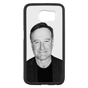 Ha77 Wallpaper Robin Williams RIP Cara omitida caja del teléfono celular Samsung Galaxy S6 funda Negro caja del teléfono celular Funda Cubierta EEECBCAAJ75657