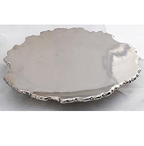 Lifestyle /& More Moderne Dekoschale Obstschale Schale aus Keramik anthrazit//Silber L/änge 39 cm Breite 19 cm