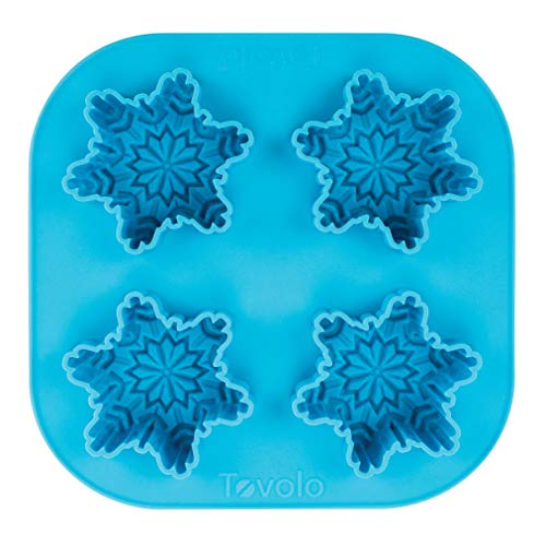 Tovolo Novelty Snowflake Ice Cube Mold Trays, Flexible Silicone, Dishwasher Safe]()