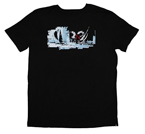 Nautica Mens Cotton Graphic T-Shirt Black M