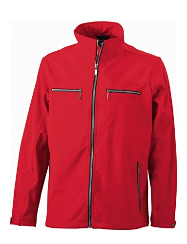 Design Tailored Softshell Moda Alla Giacca Red Uomo Nuovo Men's xZ0qYI