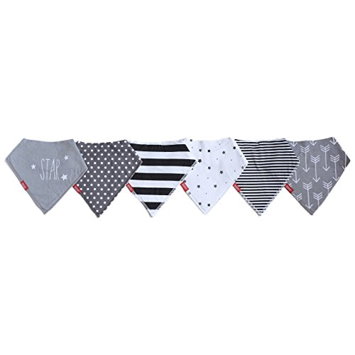 Baby Bandana Drool Bibs | Unisex 6 Pack Gift Set For Boy or Girl by Oak & Navy