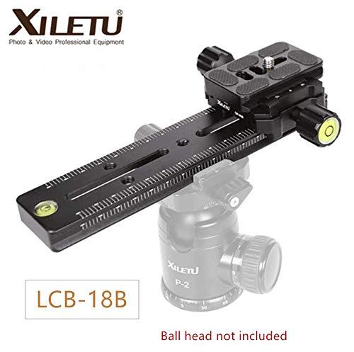 XILETU トラックドリースライダー フォーカスレールクランプ カメラ用クイックリリースプレート LCB-18B   B07QNXL6CR
