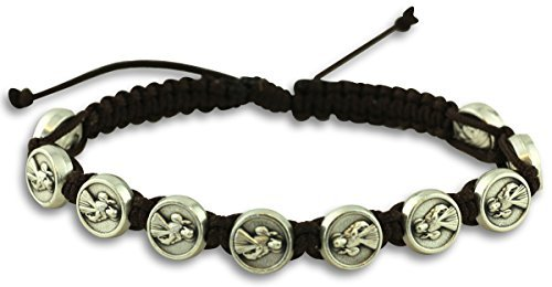 Divine Mercy Jacobs Ladder Style Adjustable Rosary Bracelet