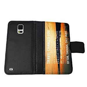 Travel Changes You - Samsung Galaxy S5 Leather Wallet Case