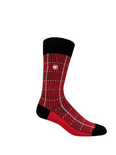 Love Sock Company 5 pairs of Men's organic cotton dress socks in a luxurious sock gift box. Fun, bold and solid socks for men, made in Europe, super soft, great gift idea. Italiano Box Set for Men by Love Sock Company (Image #2)