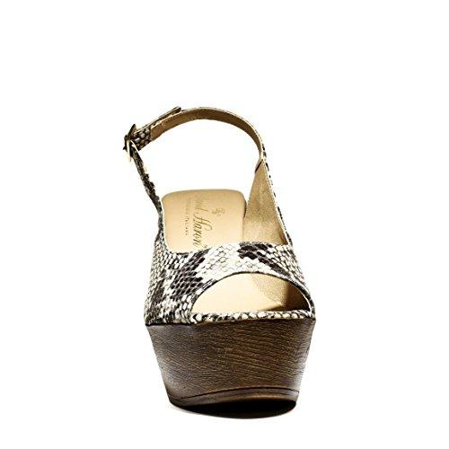 Beige Sandalias de Tacón Python Nueva Tacón Zapatos Haron 2016 Primavera Z03A Alto David Verano Colección Cuero ExHZSwaqW