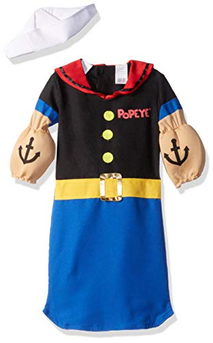 Popeye Characters Costumes (Fun World Kid's Popeye Bunting Costume Baby Costume, Multi, Up to 9)