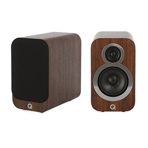 Q Acoustics Plankluidspreker Q 3010 i walnoot -paar