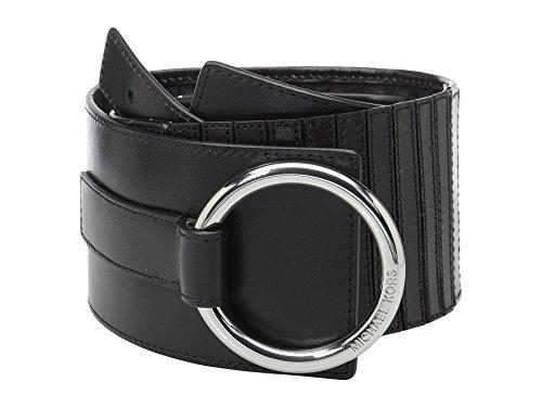 "Michael Kors Woven Belt - MICHAEL Michael Kors 75mm (2.8"") Woven Leather Belt (Black, Small)"
