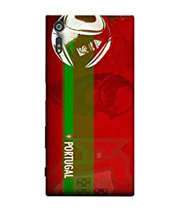 ColorKing Football Portugal 10 Red shell case cover for Sony Xperia XZ