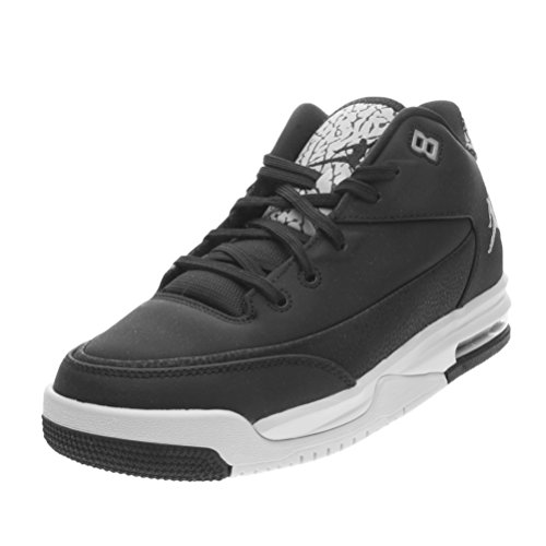 Nike Jungen Jordan Flight Origin 3 Bg Basketball Turnschuhe, Black (Black (Schwarz / Silber-Metallic-Reines Platin)), 36 EU