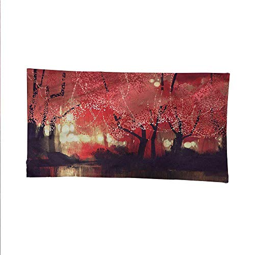 Naturespace tapestrywall Hanging tapestryCharming Mist Forest 84W x 54L Inch