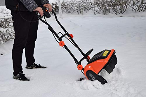 "Nice1159 New Electric Powered Snow 16"" 9-Amp- Thrower Yard Power Shovel w/Wheels- Excellent Stability (Only 3 Sets Left)"