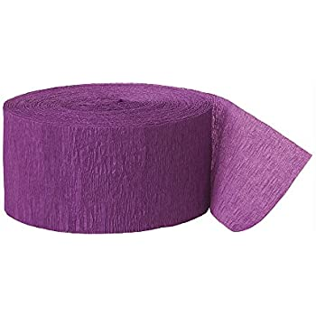 250ft Purple Crepe Paper Streamers
