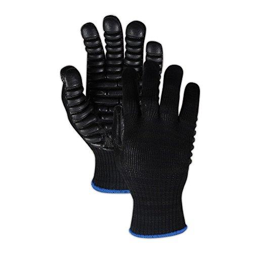 Anti Vibration Air Glove - Impacto VI4733 Maxx Anti-Vibration Gloves, XL, Black