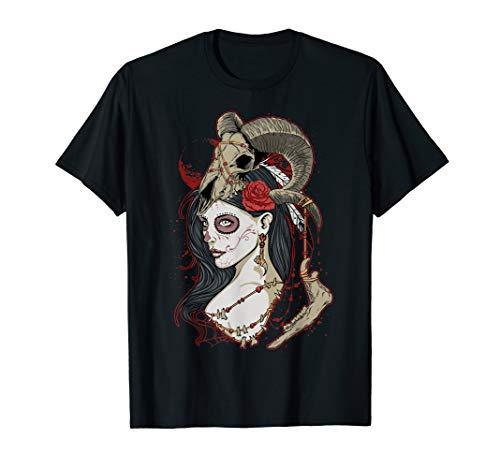 ROCKSTAR Gothic Witch Zombie Girl with Sugar Skull