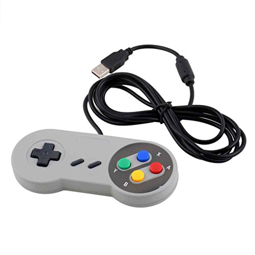 Tralntion Gaming USB Controller Wired Gamepad Joystick for Nintendo SNES System Console Control Game Pad (Xbox 360 Games That Require Hard Drive)