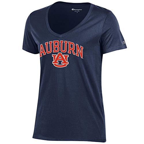 - Elite Fan Shop Auburn Tigers Womens Vneck Tshirt Navy - M