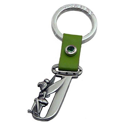 (Tinker Bell Letter J Pewter Key Chain)