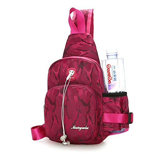 Camouflage impermeabile Light Borse Hiking Sport Rose Outdoor Taihang Red Nylon Colore 4xX1q558