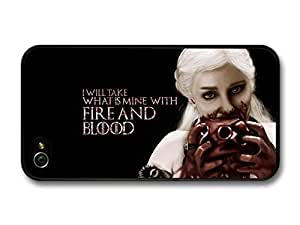 iphone covers Game of Thrones Fire And Blood Emilia Clarke Targaryen Quote case for Iphone 5c