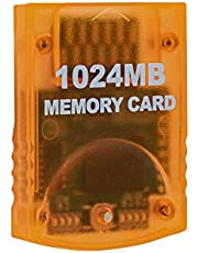 Mcbazel Game Memory Card 1024MB(16344 Blocks) for Gamecube and Wii Console Large Capacity Game Accessories
