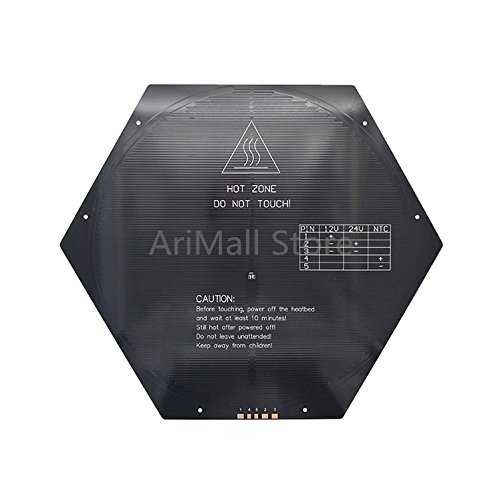 WillBest 3D Printer MK3 Heat Bed Delta Rostock Hexagon Round hot Bed Aluminium Bed RepRap Aluminum Plate heatbed by WillBest