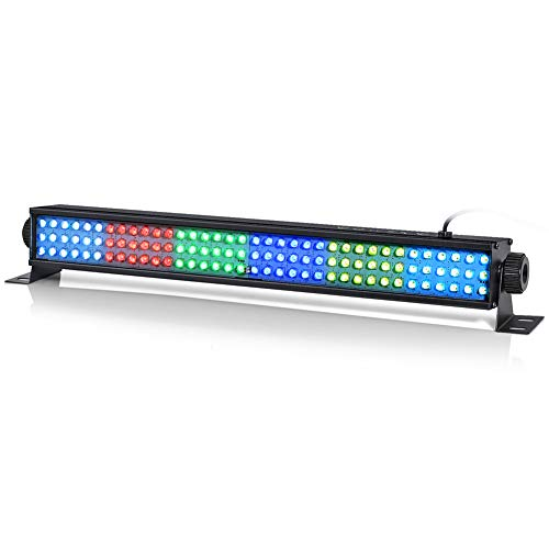 Wash Light, 108 RGB Led Light Bar 25w RGB Stage Light by DMX 512 and Sound Activated for Club Disco Party Ballroom KTV Bar Wedding DJ Uplights Party Stage Lighting