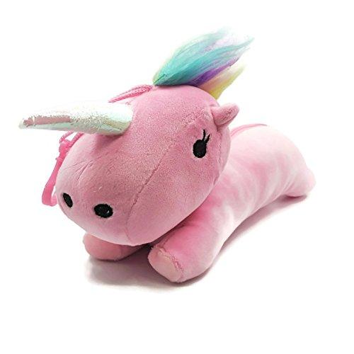 Unicorn Kawaii School Supplies: 1 pc Plush Unicorn Pencil Case, 4 pcs Unicorn Pens, 4 pcs Pink & Purple Pencils, 3 pieces Animal Unicorn Erasers & 2 pcs Rainbow Sticky Notes Office Supplies