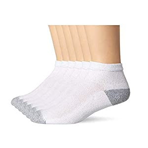Hanes Mens FreshIQ X-Temp Comfort Cool Vent Ankle Socks, White/Grey