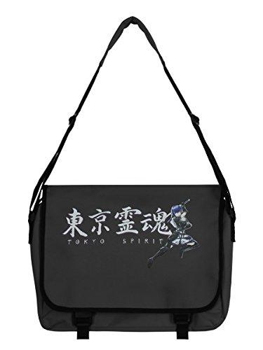 Borsa da postino Tokyo Spirit Katsumi Grafite grigia 38 x 33 x 11 cm