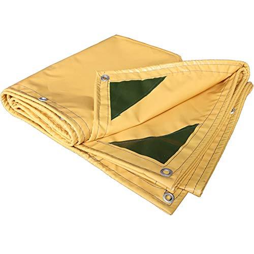 黒くするダム合成防水日焼け止めターポリン/車の防水カバーキャンバス0.35ミリメートル黄色のナイフスクレーパー屋外雨天のターポリン450グラム/平方メートル(8サイズがご利用いただけます) (色 : イエロー いえろ゜, サイズ さいず : 3 * 4m)
