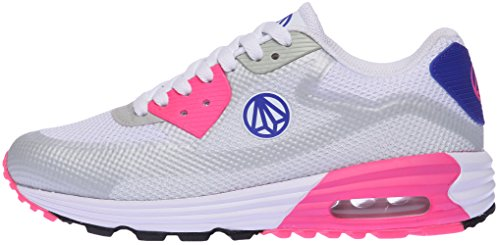 Paperplanes-1324 Unisex Trendy Air Cushion Tall Up Sneakers Zapatos Grey Pink