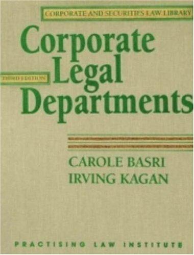 Corporate Legal Departments (Vol 1,2)