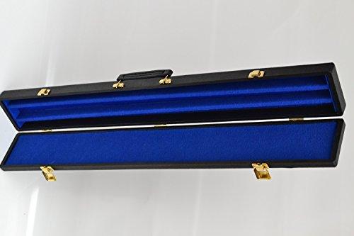 Billard Queue Koffer schwarz Köcher mit Naht für 1 Unterteil / 1 Oberteil
