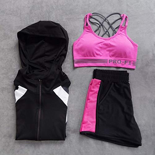 3 Maglietta Lunghe Set 2 Incrociate A Shizheshop Anti Con Cappuccio Schiena Sulla Body sismico 8 Maniche Pezzi Yoga Da Spalline qXwwa8Z
