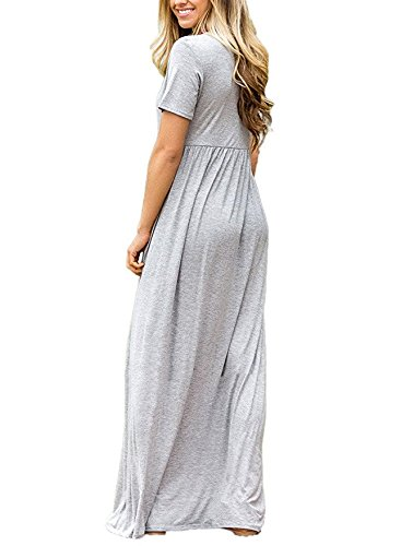 Leezeshaw - Vestido - para mujer gris