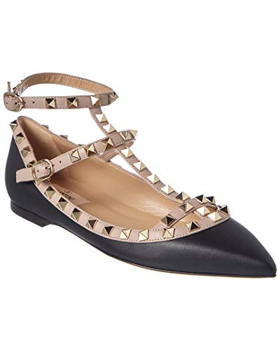 VALENTINO Rockstud Caged Leather Ballerina Flat, 37.5,, used for sale  Delivered anywhere in USA