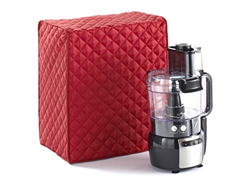 Covermates – Food Processor Cover – 15W x 11D x 18H – Diamond Collection – 2 YR Warranty – Year Around Protection – Red