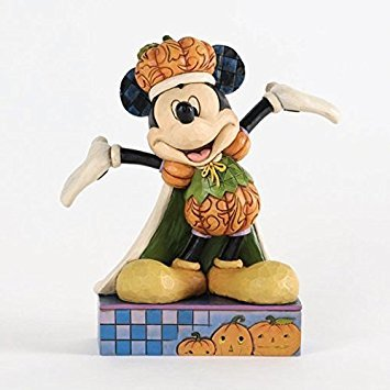Jim Shore for Enesco Disney Traditions Pumpkin King Mickey Mouse Figurine, -