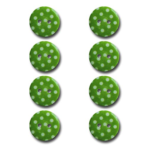 (Maya Road BUT2943 Polka Dot Buttons, Lime Green)