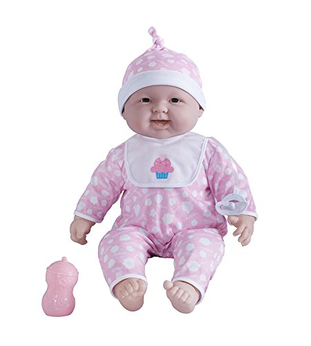 JC Toys 'Lots to Cuddle Babies' 20-Inch Pink Soft Body Baby Doll and Accessories Designed by Berenguer (Much Daybeds How Are)