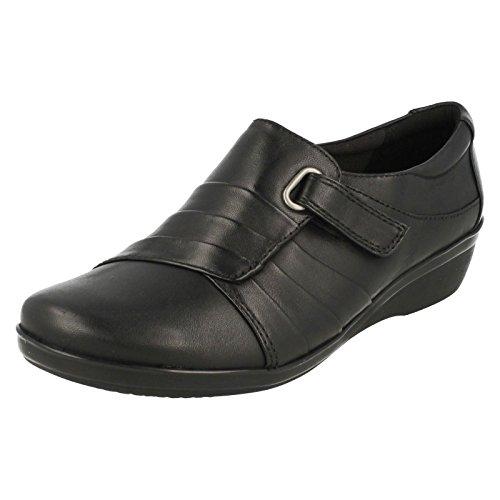 Clarks Clarks Chaussures Femme Everlay Luna Cuir Noir
