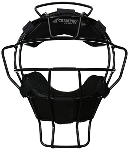 (CHAMPRO Ump Mask DRI Gear Pads (Black, 18-Ounce))